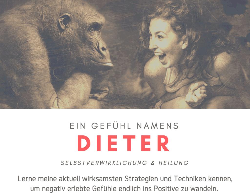 Ein Gefühl namens Dieter - MEINE BISLANG WIRKSAMSTEN STRATEGIEN ZUR BEWÄLTIGUNG VON SCHWIERIGEN GEFÜHLEN UND LEBENSSITUATIONEN