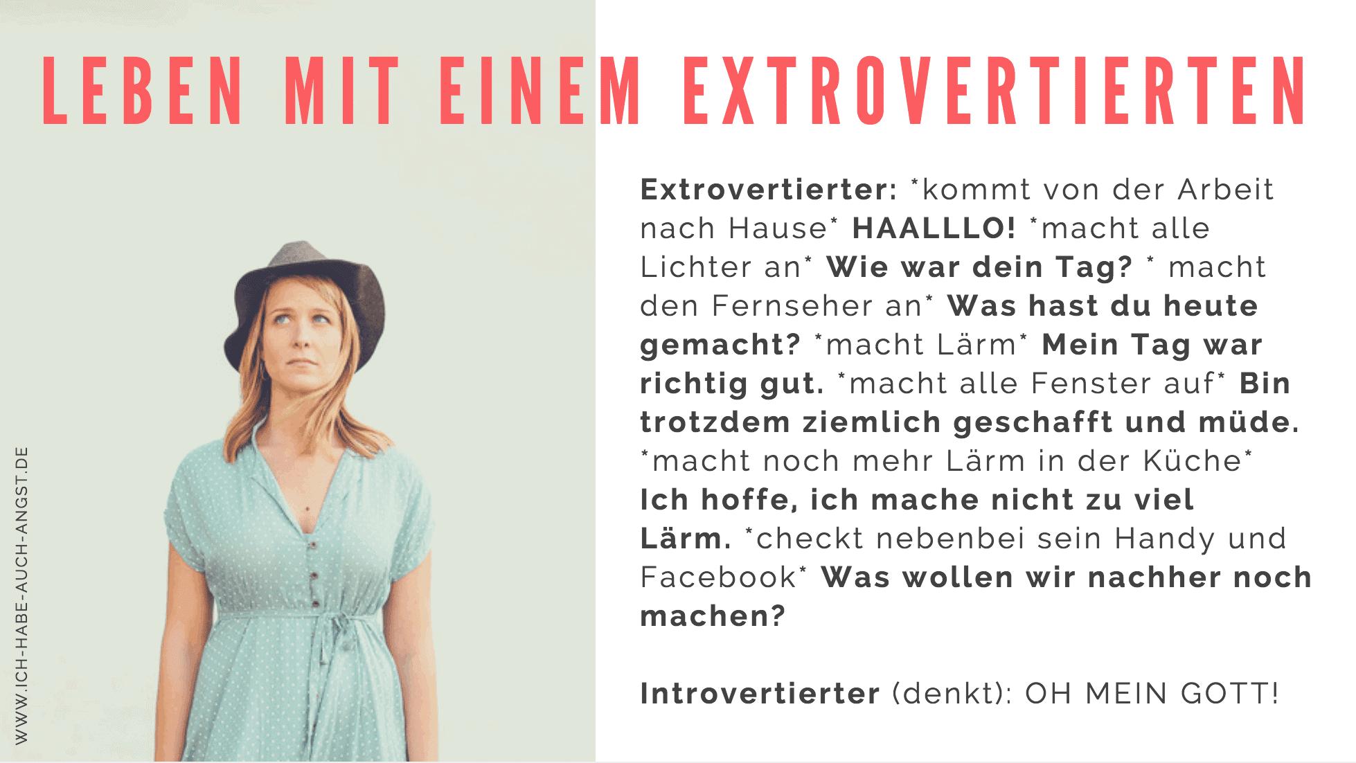 Leben mit extrovertierten und introvertierten Partnern